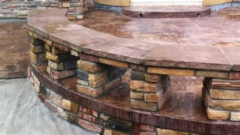 flagstone bench building stone benches broomfield landscape contractor youtube