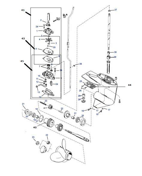mercury buitenboordmotor 10 pk staartstuk onderdelen 2 takt mercury buitenboordmotor kopen