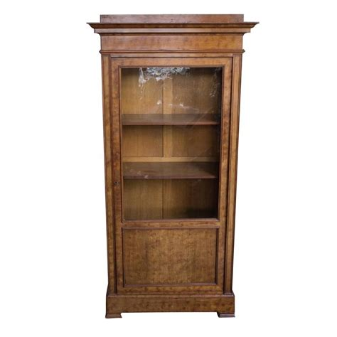 Chestnut Bookcase 19th century chestnut bookcase with original glass door for sale at 1stdibs