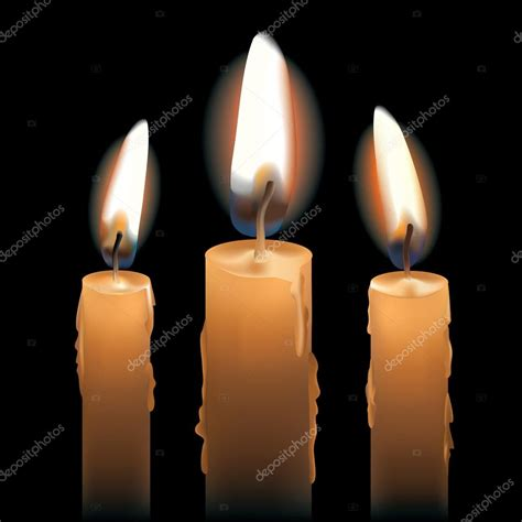 imagenes de velas rojas encendidas tres velas encendidas archivo im 225 genes vectoriales