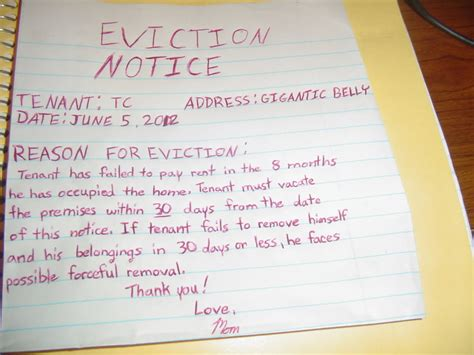 7 eviction notice templates word excel pdf formats