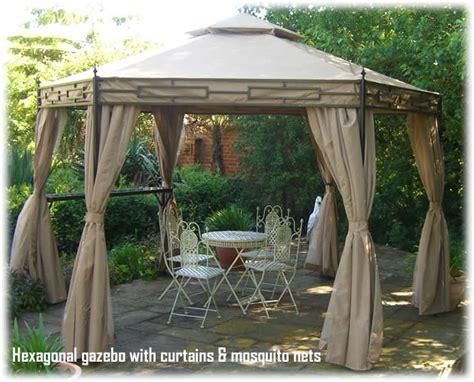 curtains for gazebo gazebos luxury hexagonal gazebo with curtains and