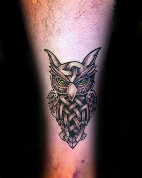 celtic owl tattoo design 30 celtic owl tattoo designs for men knot ink ideas