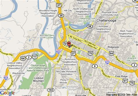 map of chattanooga tn map of chattanooga days inn lookout mountain downtown