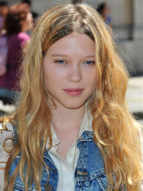 lea seydoux long hair hair evolution l 174 a seydoux