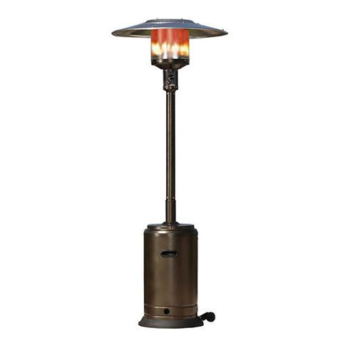 fire sense hammer tone bronze patio heater stoneberry