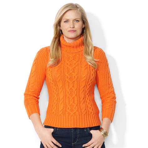 orange cable knit sweater orange turtleneck sweater womens zip sweater