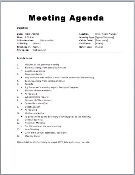 meeting agenda template word peerpex
