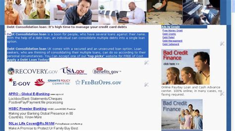 bad consolidation kredit debt grant grant money for debt relief how to get rid bad credit