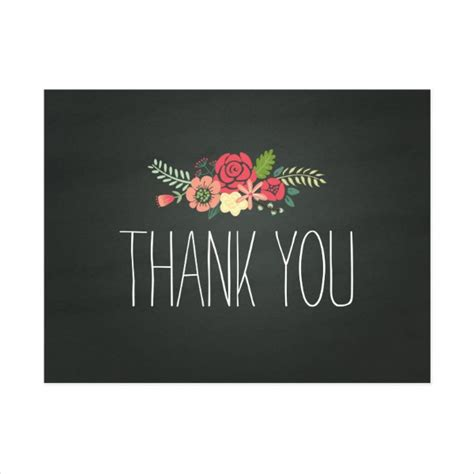 Chalkboard Thank You Card Template chalkboard thank you cards 8 free psd vector ai eps
