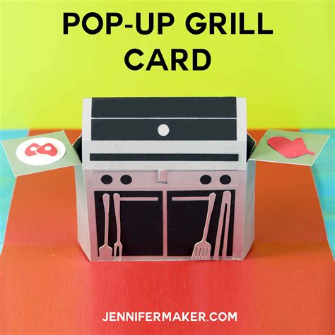 Square Up Gift Cards - pop up grill card gift card holder for father s day jennifer maker
