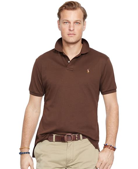 Celana Softjeans Polos lyst polo ralph big and pima soft touch polo shirt in brown for