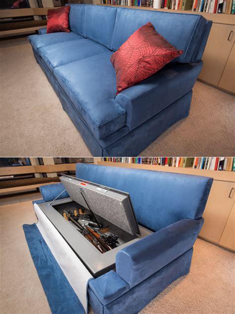 hidden couch bulletproof couch with hidden 30 rifle gun safe
