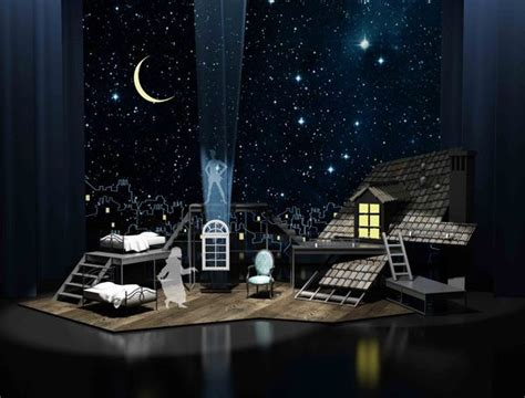 how to design a backdrop for the stage set design peter pan on behance other theatre stuff