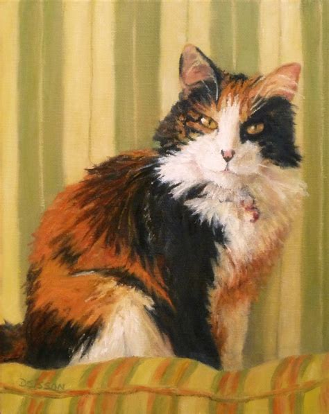 painting cats daily painting projects calico softness painting cat