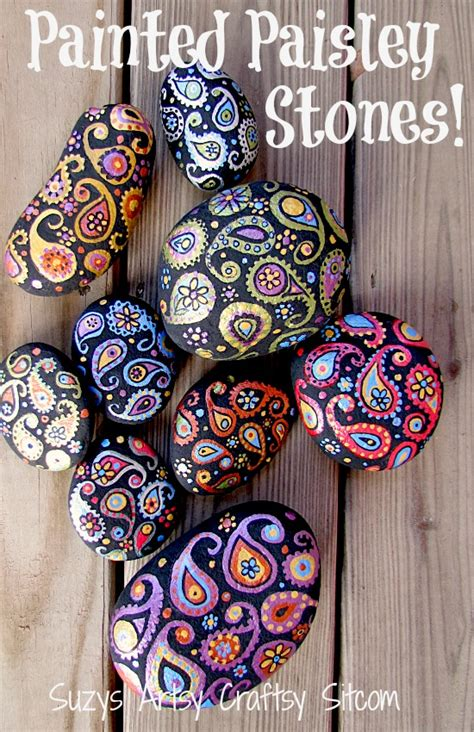 painted projects painted paisley stones fun painting project