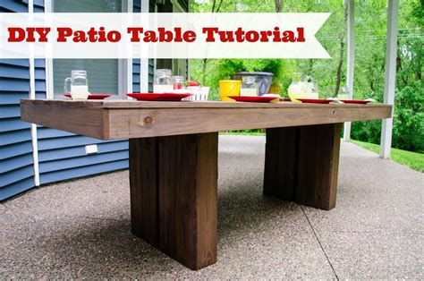 Build It Decor And The Dog Patio Table Diy