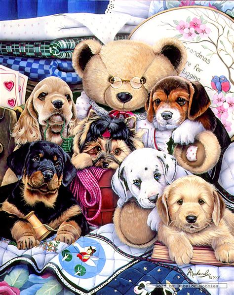 puppy puzzle 300 pcs jigsaw puzzle newland puppy easy grip dogs