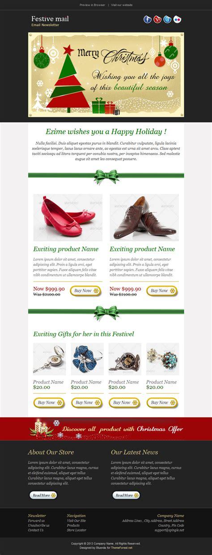 themeforest newsletter festive2 christmas newsletter template by bluenila