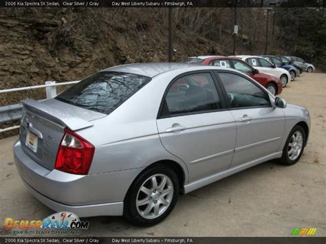 2006 Kia Spectra Sx 2006 Kia Spectra Sx Sedan Clear Silver Gray Photo 7