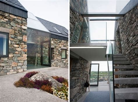 stones wall modern cottage house plans modern house plan see through stone 13 aging structures with glass