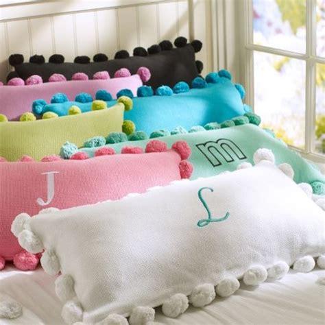 kids bed pillows pom pom organic pillow cover modern kids bedding by