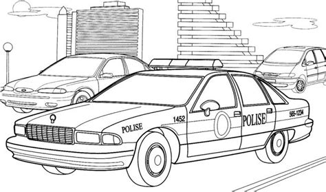 images of cartoon police car coloring coloring pages