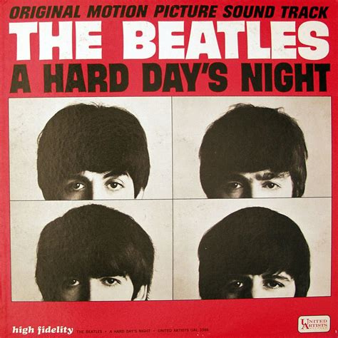 beatles 1 album cover the beatles 1964 quot a hard day s night quot soundtrack on united