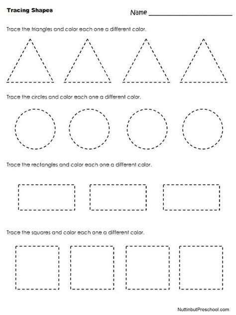 Preschool Worksheets Pdf by 25 Best Ideas About Tracing Shapes On Color