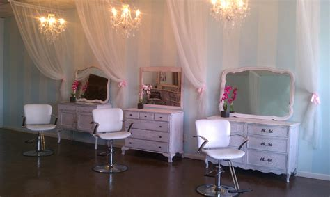 Shabby Chic Salon by Using Dressers For Stylist Stations Salon Envy In