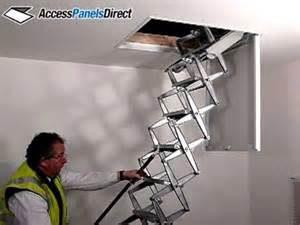 Ceiling Access Ladder by Access Panels Direct Ceiling Mounted Retractable Zip