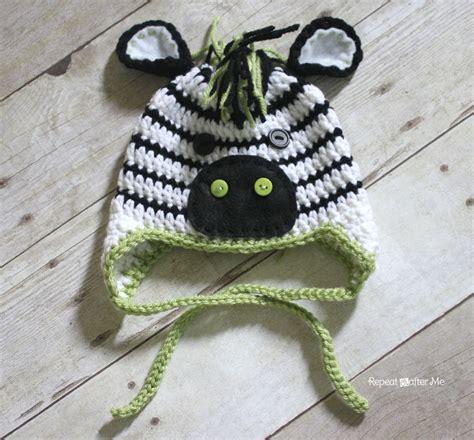 crochet free pattern zebra crochet zebra hat pattern repeat crafter me
