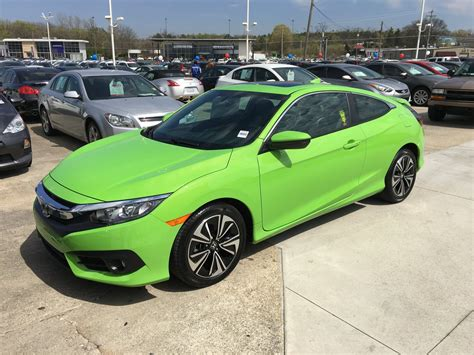honda green brought home a energy green 2016 civic coupe