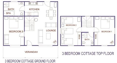 belfast cottages 3 bedroom cottage floor plans