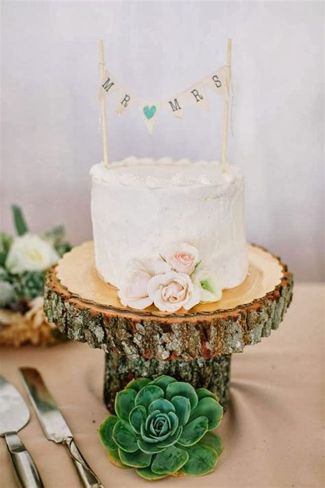 Wedding Cakes Small by Small Wedding Cake Succulent Wedding Cake Wooden Cake