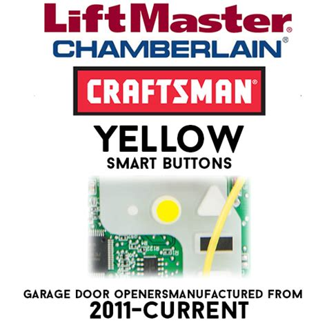 Chamberlain Myq Yellow Smart Button Garage Door Remotes Chamberlain Garage Door Learn Button