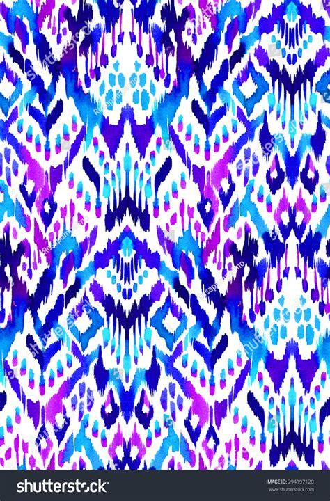 Ikat Pinggang Leaf Shape Decorated Color Design Ra5775 seamless ikat textile pattern beautiful geometric stock illustration 294197120