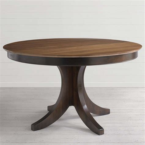 Handcrafted Table Ls - pedestal table w leaf