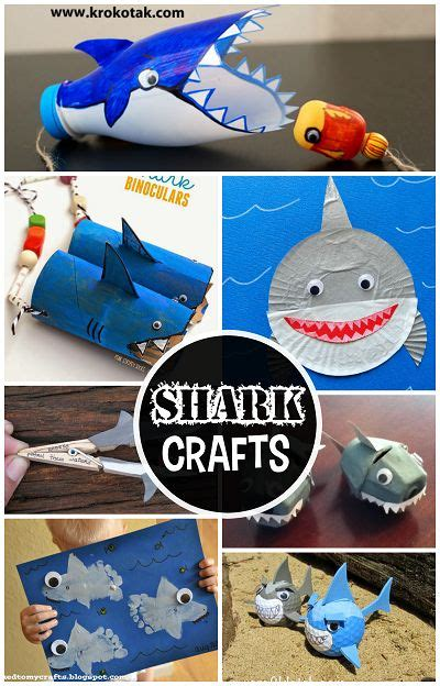 scary crafts for non scary shark crafts for to create crafty morning