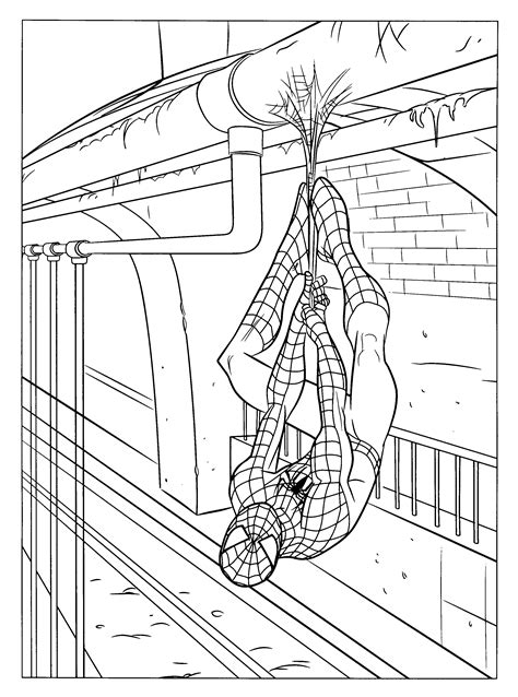 coloring page spiderman 3 coloring pages 18