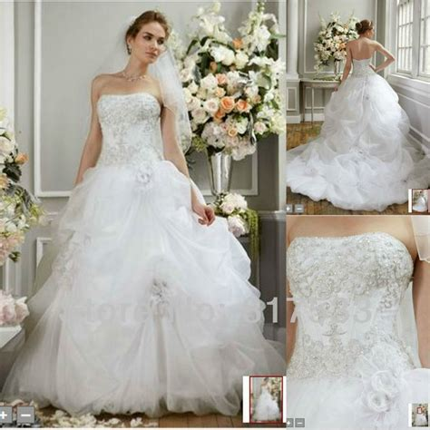 masterpiece tulle long train wedding dress ruffles corset
