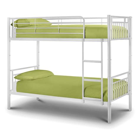 White Futon Bunk Bed Julian Bowen Atlas Bunk Bed Metal White