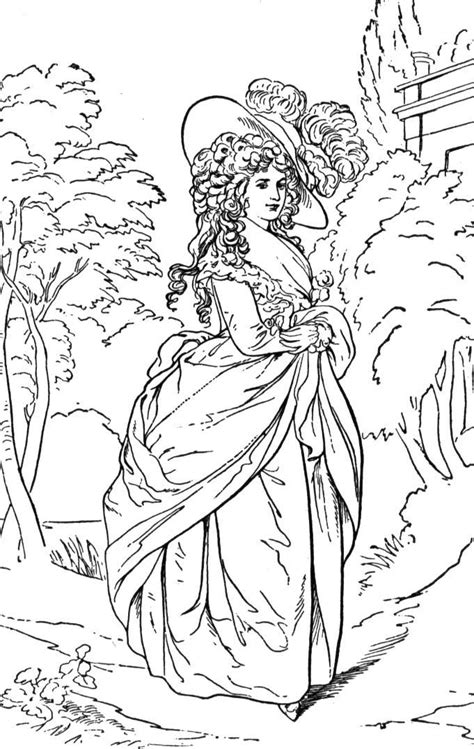 coloring pages of victorian ladies hands on history for