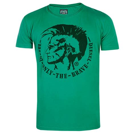 T Shirt Brave Diesel Fth diesel t achel mohawk green printed only the brave tshirt