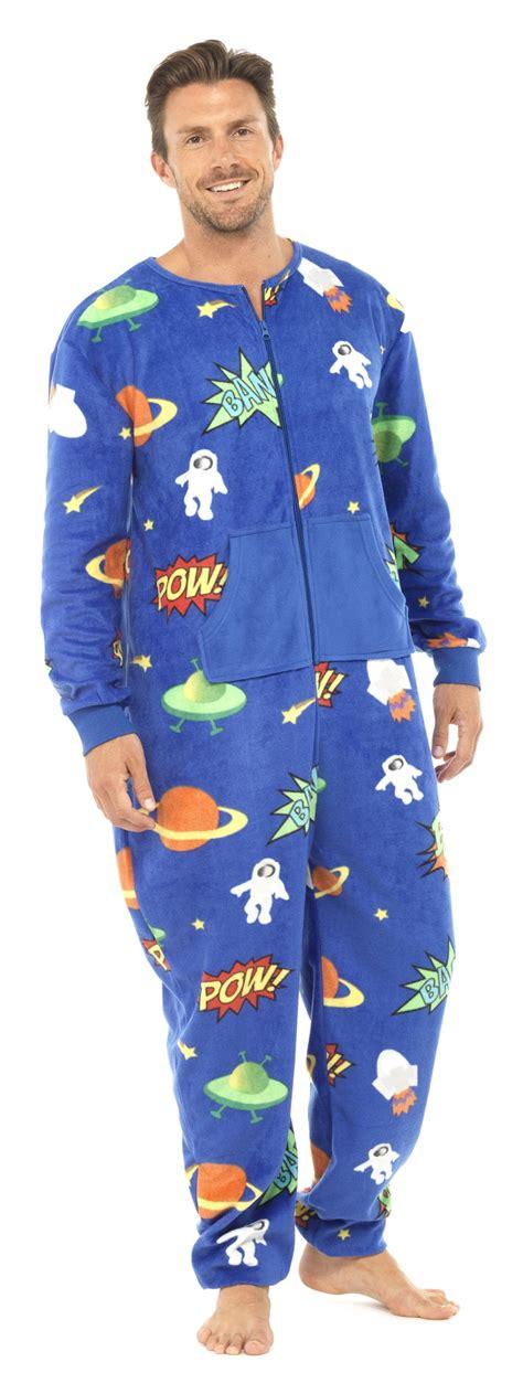 schlaf jumpsuit mens length fleece onesie zip all in one jumpsuit