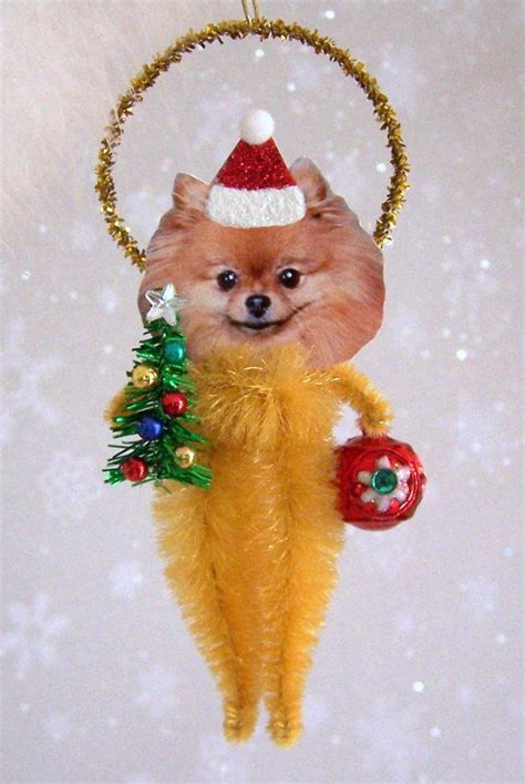 pomeranian ornaments pomeranian ornament feather tree by treepets on etsy 12 95 all things