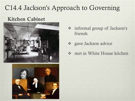 jacksons kitchen cabinet chapter 14 andrew jackson and the growth of american