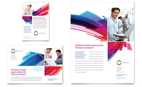 software brochure templates software solutions flyer ad template word publisher