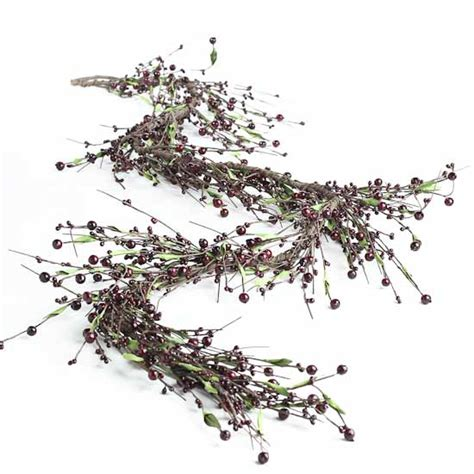 berry garland burgundy pip berry garland floral sale sales