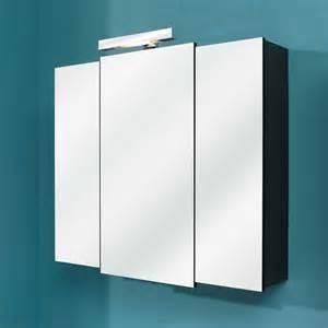 armoire de toilette 3 portes miroir avec 233 clairage led weasley